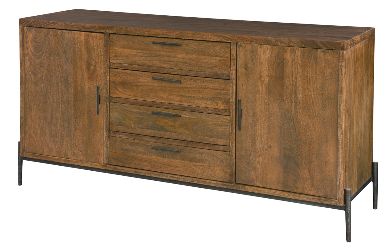 Most Current Corrugated White Wash Sideboards For Hekman 23725 Bedford Park 68 Inch Wide Wood Buffet With Two (Gallery 19 of 20)