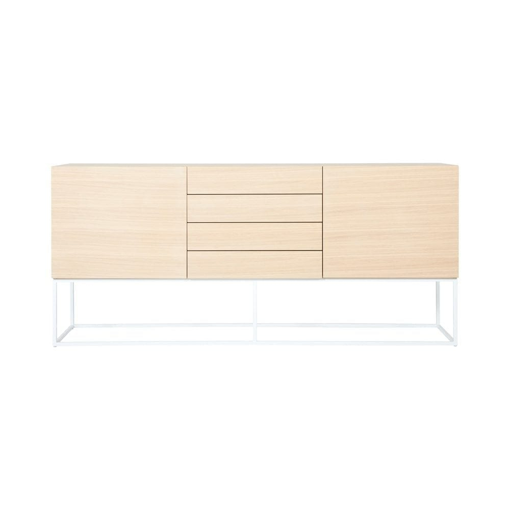 Most Current Dark Smoked Oak With White Marble Top Sideboards Intended For Modern Designer American Oak Balmain Buffet/sideboard – White Steel (View 12 of 20)