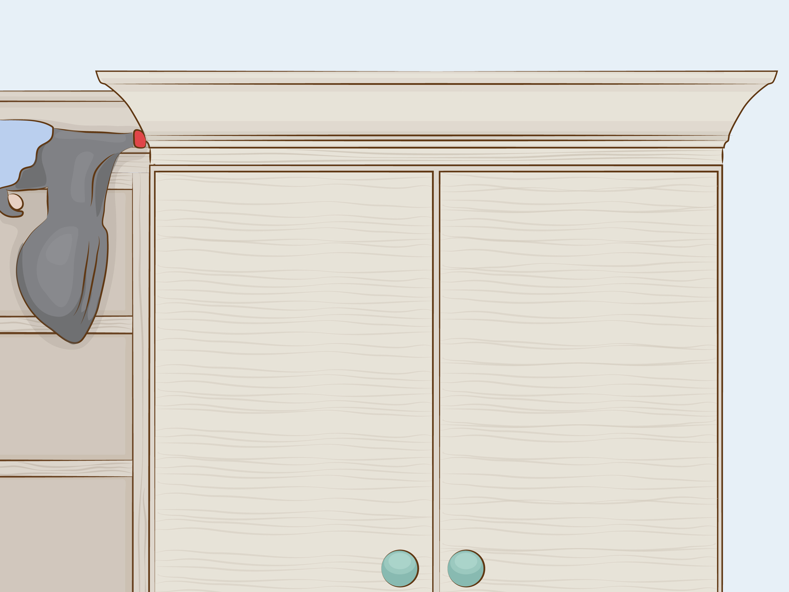 Most Current How To Cut Crown Molding For Cabinets: 12 Steps (With Pictures) Regarding Walnut Finish Crown Moulding Sideboards (View 7 of 20)