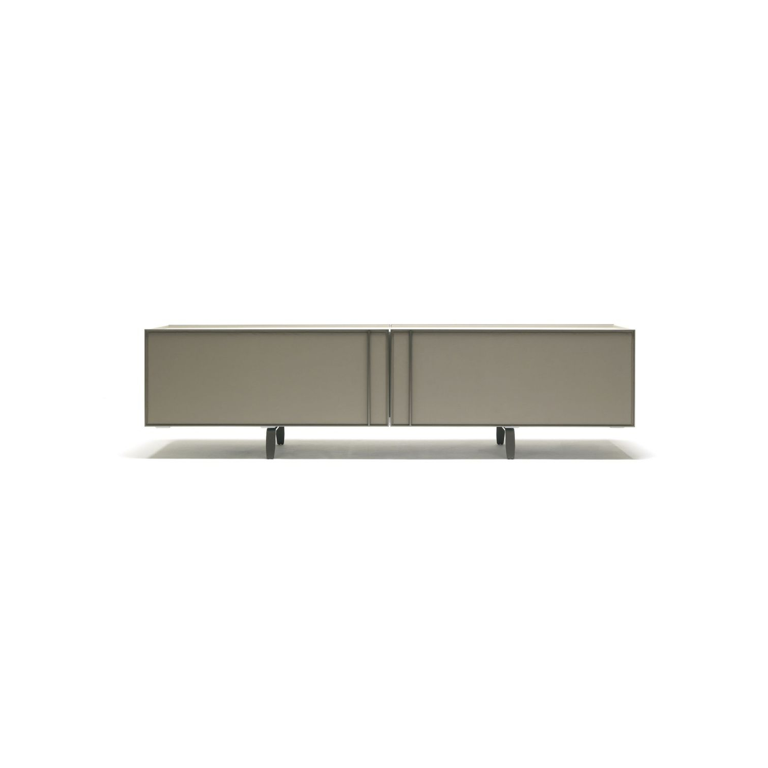 Most Current Metal Refinement 4 Door Sideboards Inside Contemporary Sideboard / Metal / Leather / Marble – Madison – Misuraemme (View 13 of 20)
