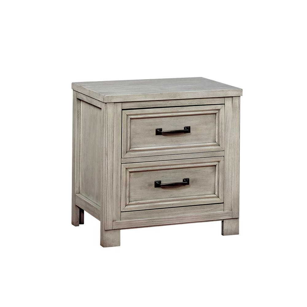 Most Current Nightstands – Bedroom Furniture – The Home Depot Intended For White Wash 2 Drawer/1 Door Coffee Tables (Gallery 18 of 20)