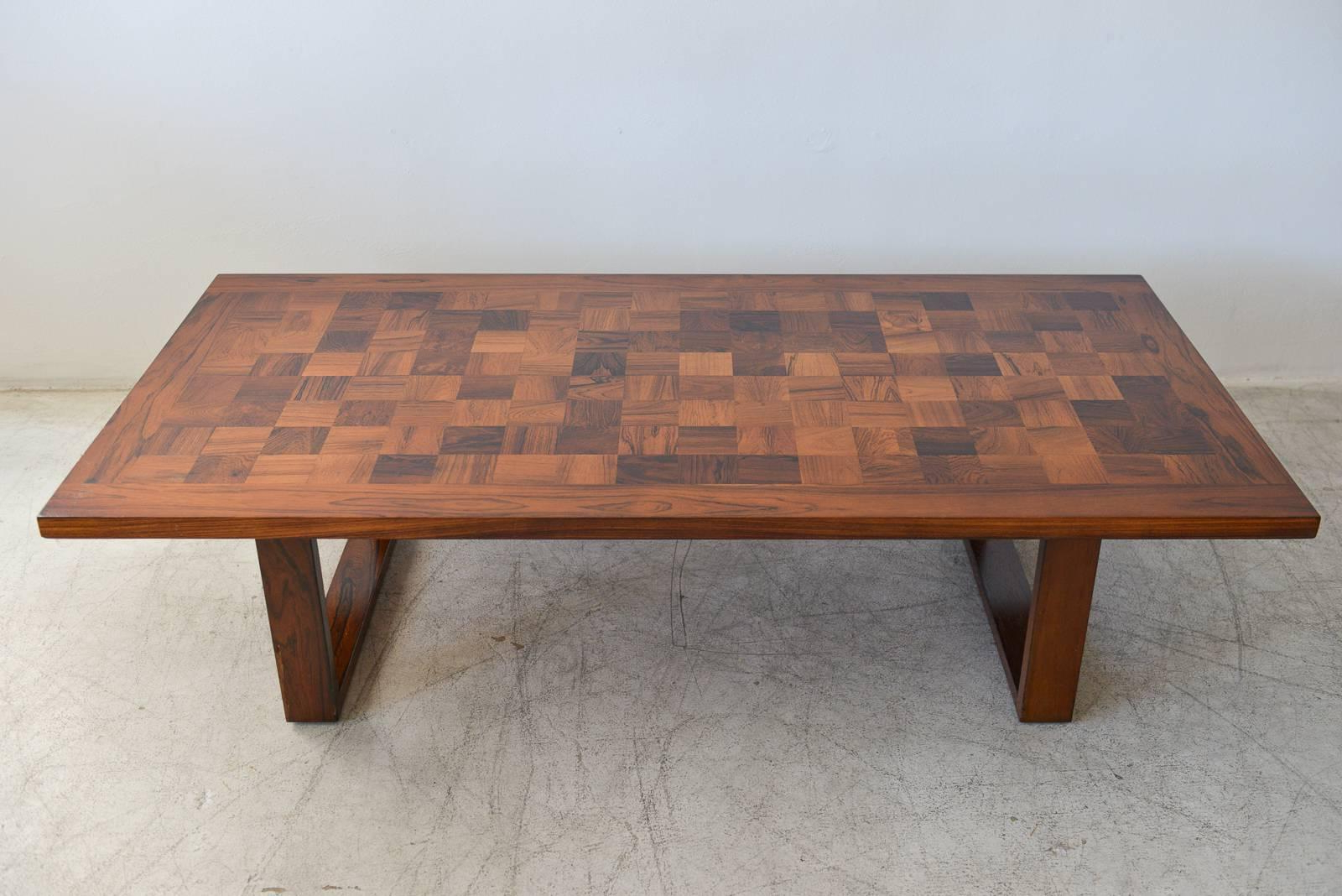 Most Current Parquet Coffee Tables With Rosewood Parquet Rectangular Coffee Tablepoul Cadovius At 1Stdibs (View 7 of 20)