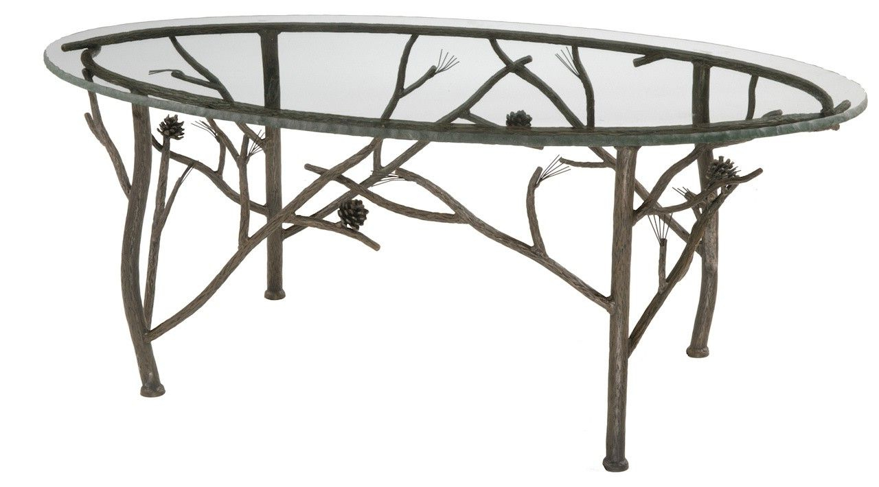 Most Current Pine Oval Coffee Table With Blasted Nipped Edge Glass Top – Decor Regarding Chiseled Edge Coffee Tables (View 9 of 20)