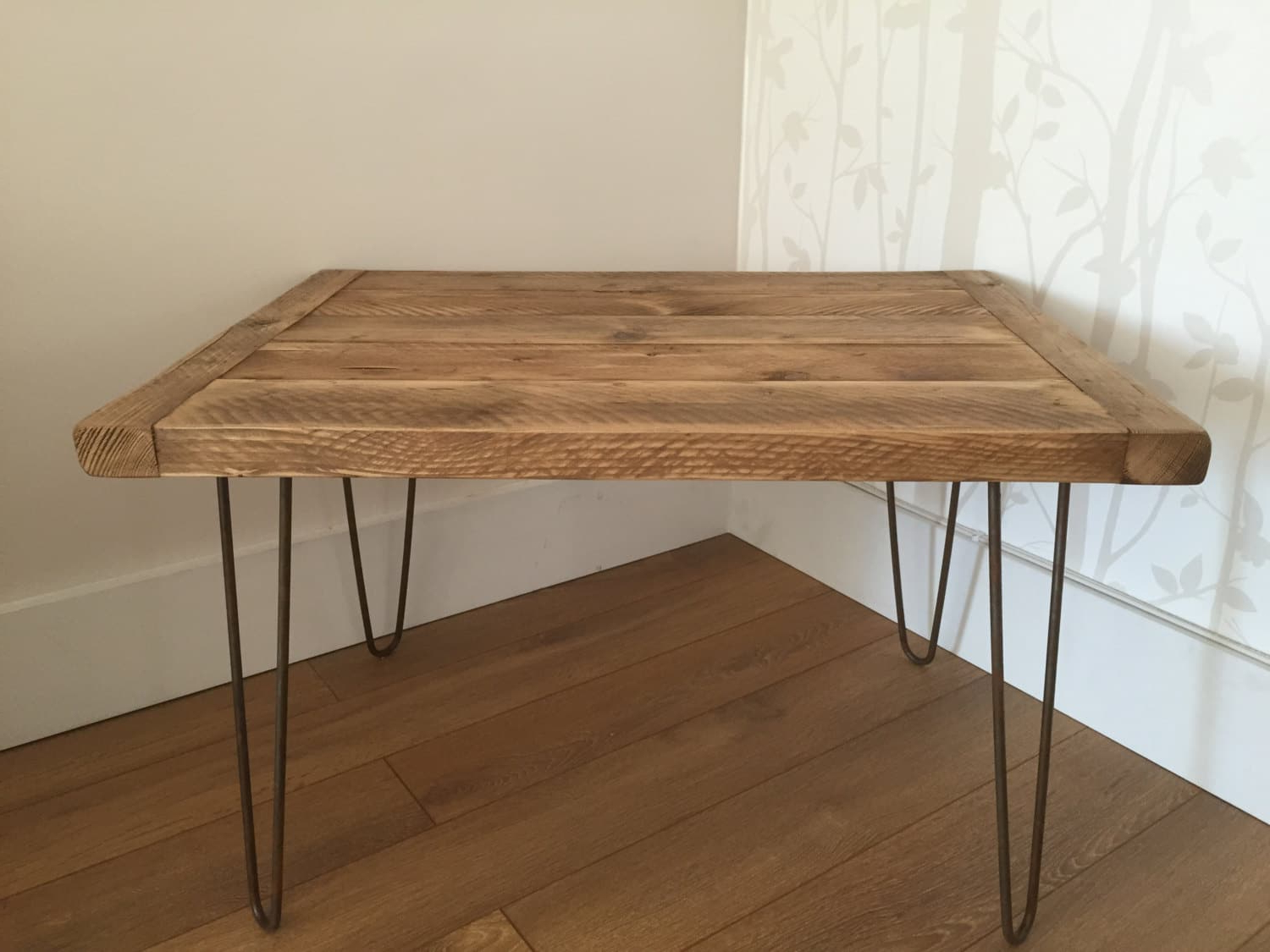 Most Current Reclaimed Pine & Iron Coffee Tables With Regard To Reclaimed Rustic Solid Pine Coffee Table With Metal Hairpin Legs (View 10 of 20)