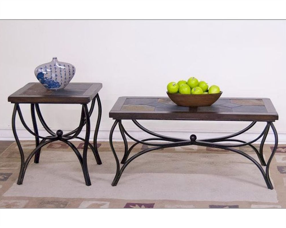 Most Current Santa Fe Coffee Tables Pertaining To Sunny Designs Santa Fe Coffee Table Set Su 3125Dc Set (View 3 of 20)