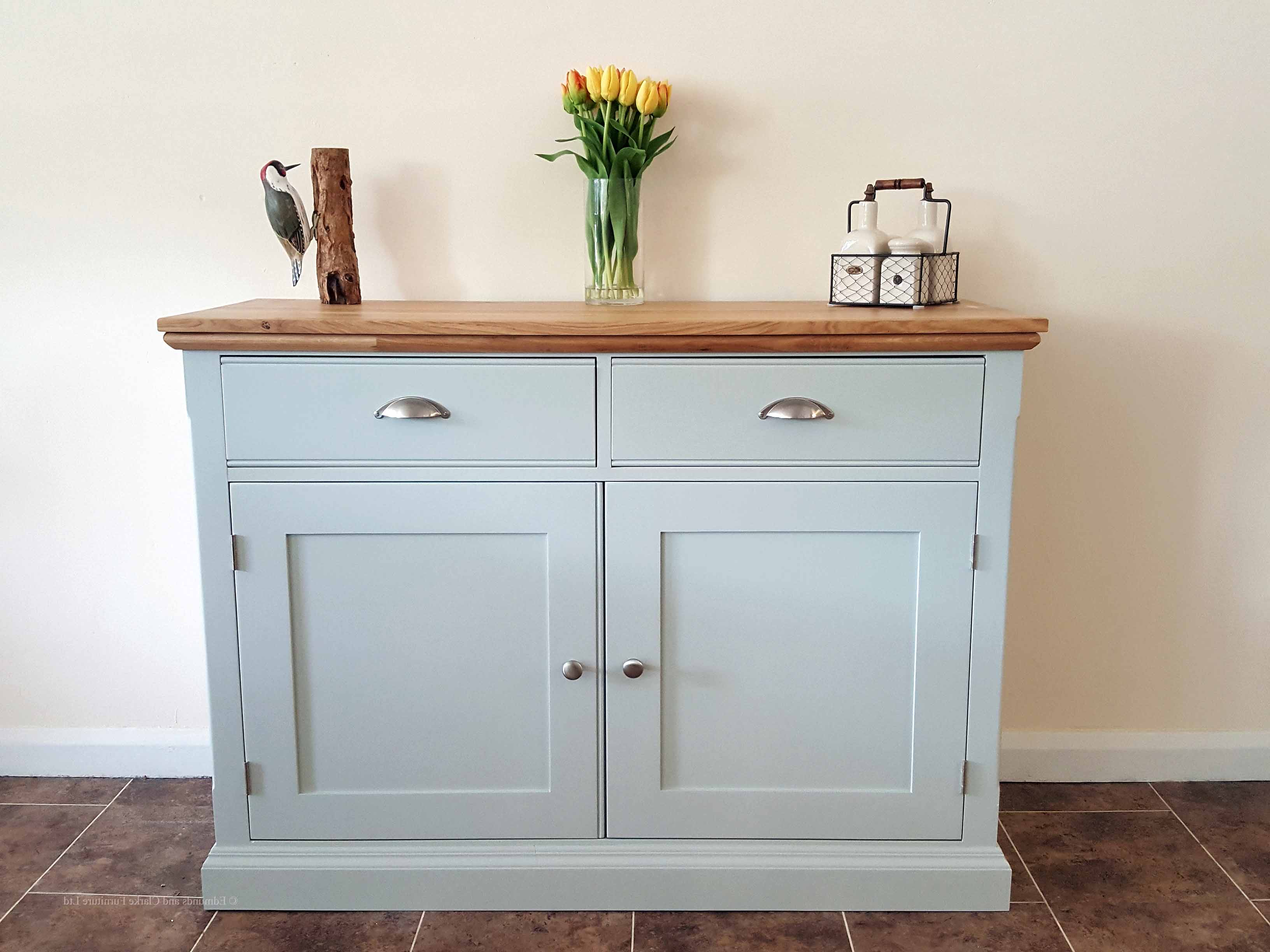 Most Current Satin Black & Painted White Sideboards Inside Edmunds Painted 4Ft Sideboard – Edmunds & Clarke Furniture Ltd (View 9 of 20)