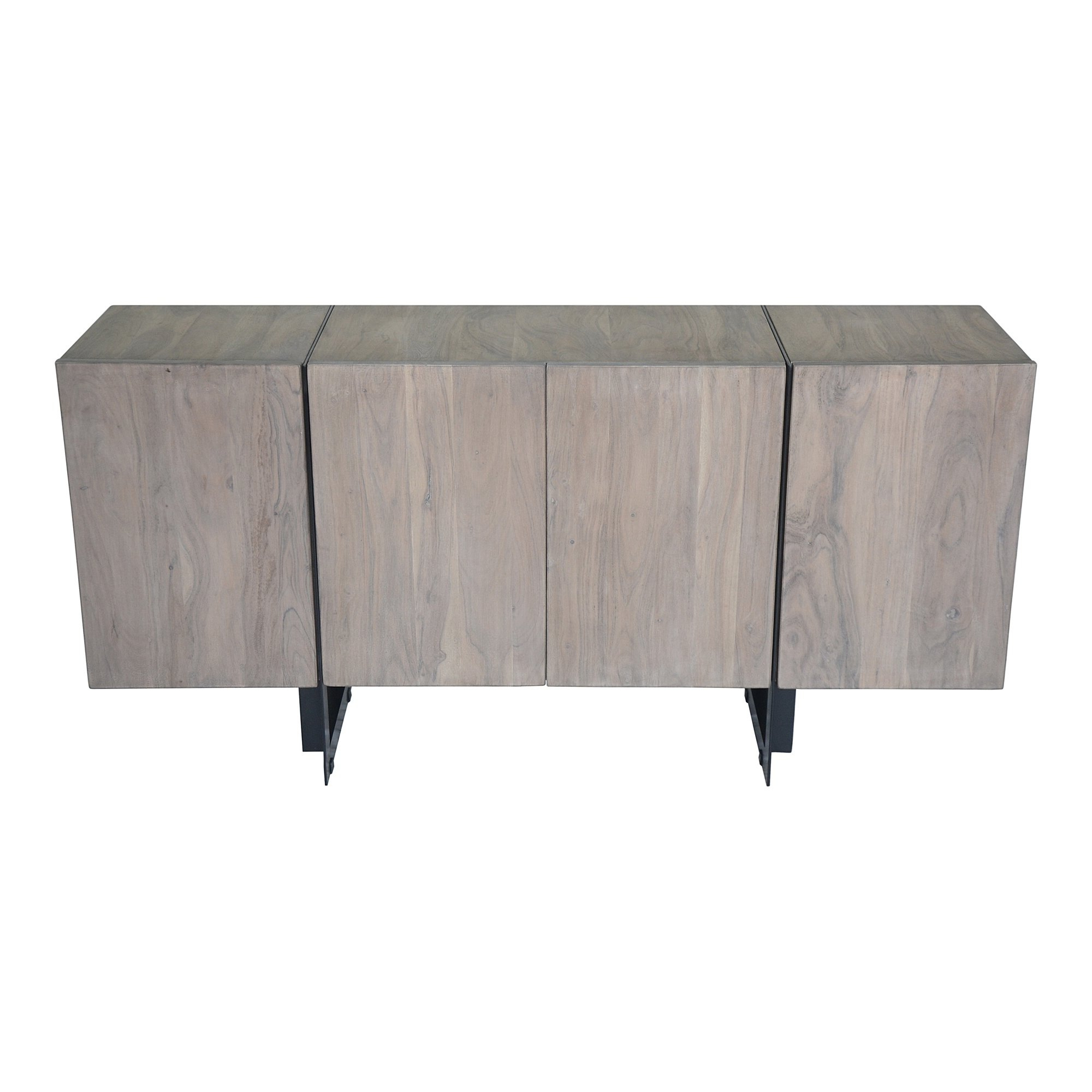 Most Current Shop Aurelle Home Hampton Grey Storage Small Sideboard – On Sale Within Oil Pale Finish 3 Door Sideboards (Gallery 1 of 20)