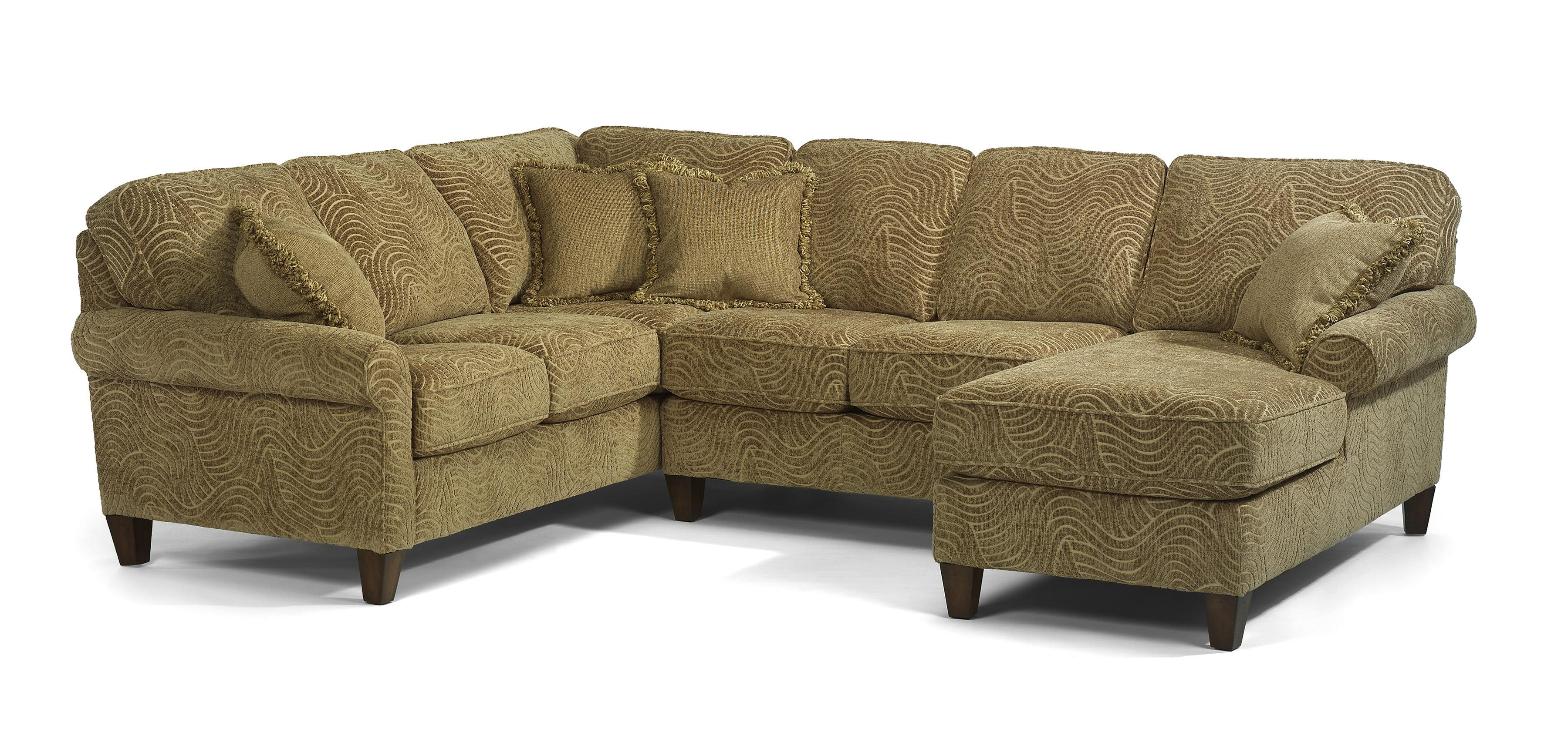 Most Current Sierra Down 3 Piece Sectionals With Laf Chaise Within Flexsteel Westside Casual Corner Sectional Fabric Upholstered Sofa (View 10 of 20)