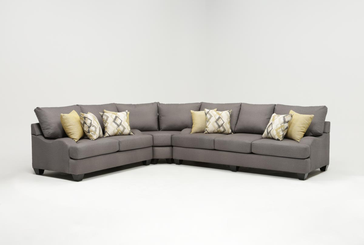 Most Current Sierra Foam 3 Piece Sectional (View 8 of 20)