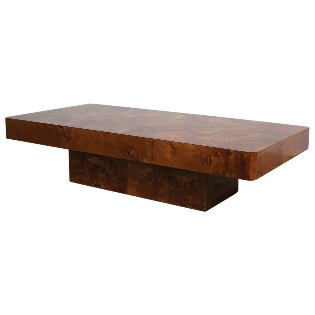 Most Current Vintage French Burl Wood Coffee Table For Sale At Pamono Throughout Vintage Wood Coffee Tables (View 7 of 20)
