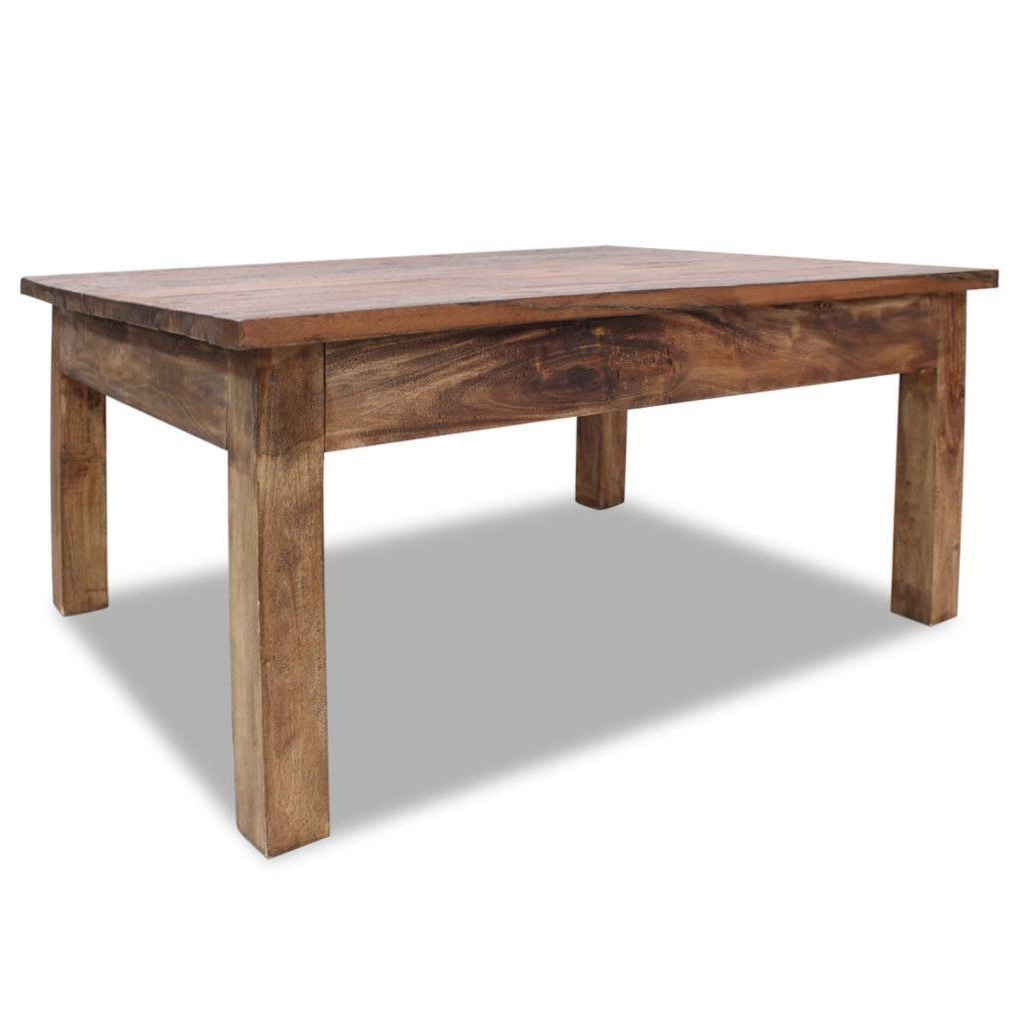 Most Current Vintage Wood Coffee Tables With Regard To Rustic Wooden Coffee Table Vintage Style Solid Reclaimed Wood (View 8 of 20)