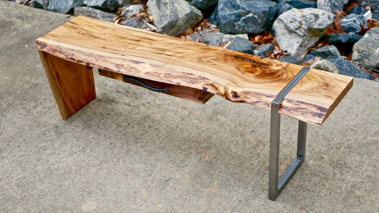 Most Current Waterfall Coffee Tables Regarding Modern Live Edge Waterfall Coffee Table Part 1 (Gallery 16 of 20)