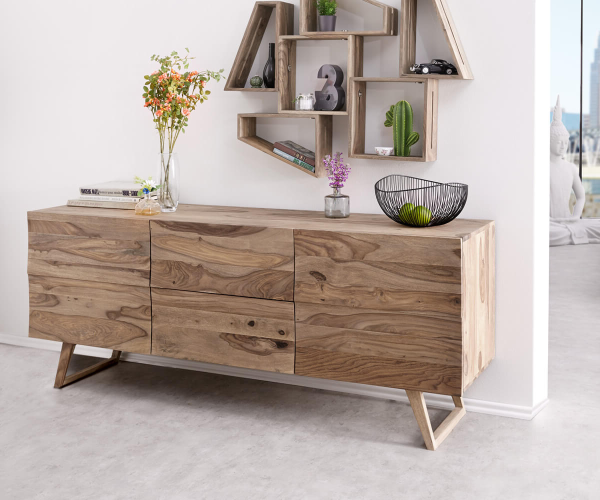 Most Current Wyatt Sideboards For Designer Sideboard Wyatt 177 Cm Sheesham Natur 2 Türen Möbel (View 10 of 20)