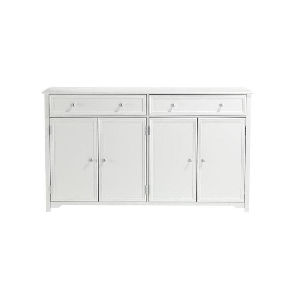 Most Popular Antique White Sideboards For Home Decorators Collection Oxford White 60 In (View 16 of 20)