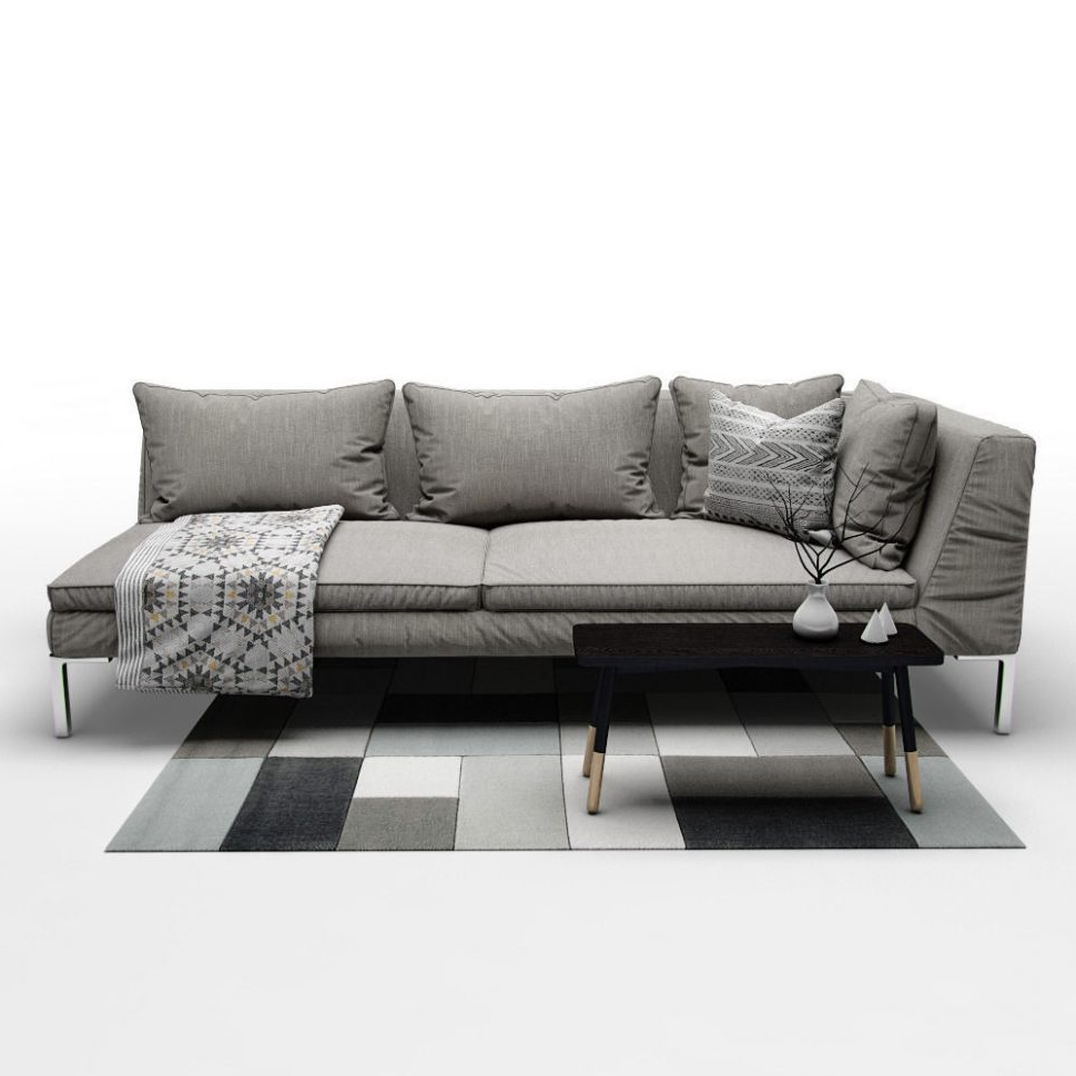 Most Popular Aquarius Light Grey Piece Sectional Wraf Chaise Living Spaces Color In Aquarius Dark Grey 2 Piece Sectionals With Raf Chaise (View 18 of 20)