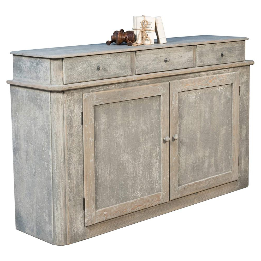 Most Popular Aries Rustic Lodge Grey Reclaimed Wood Buffet Sideboard (View 13 of 20)