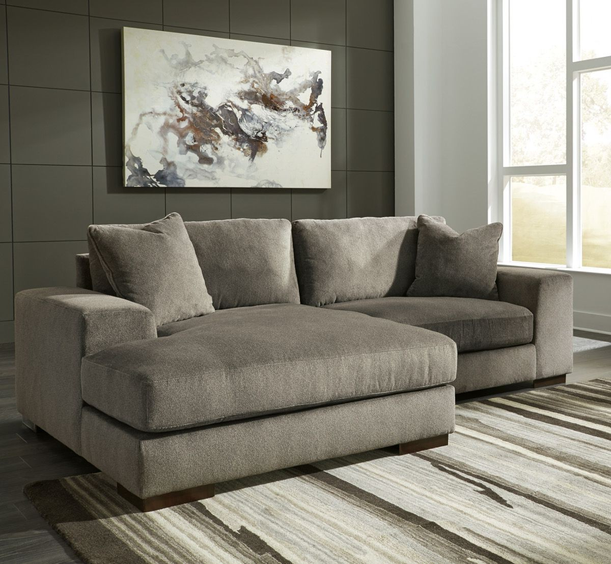 Most Popular Ashley Furniture Manzani 2 Piece Sectional With Raf Chaise In Throughout Aspen 2 Piece Sectionals With Laf Chaise (View 15 of 20)