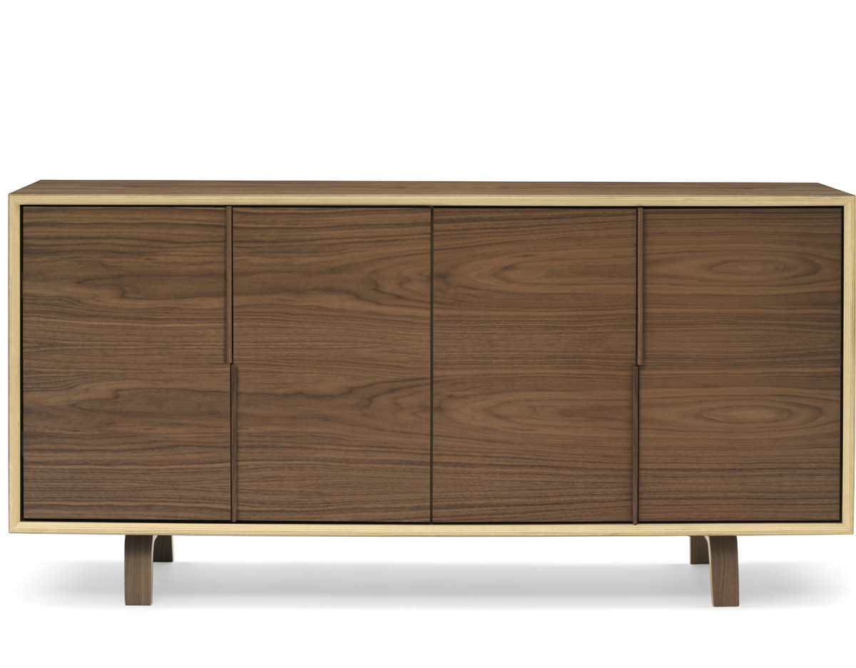 Most Popular Cherner 4 Door Cabinet – Hivemodern In Girard 4 Door Sideboards (View 8 of 20)