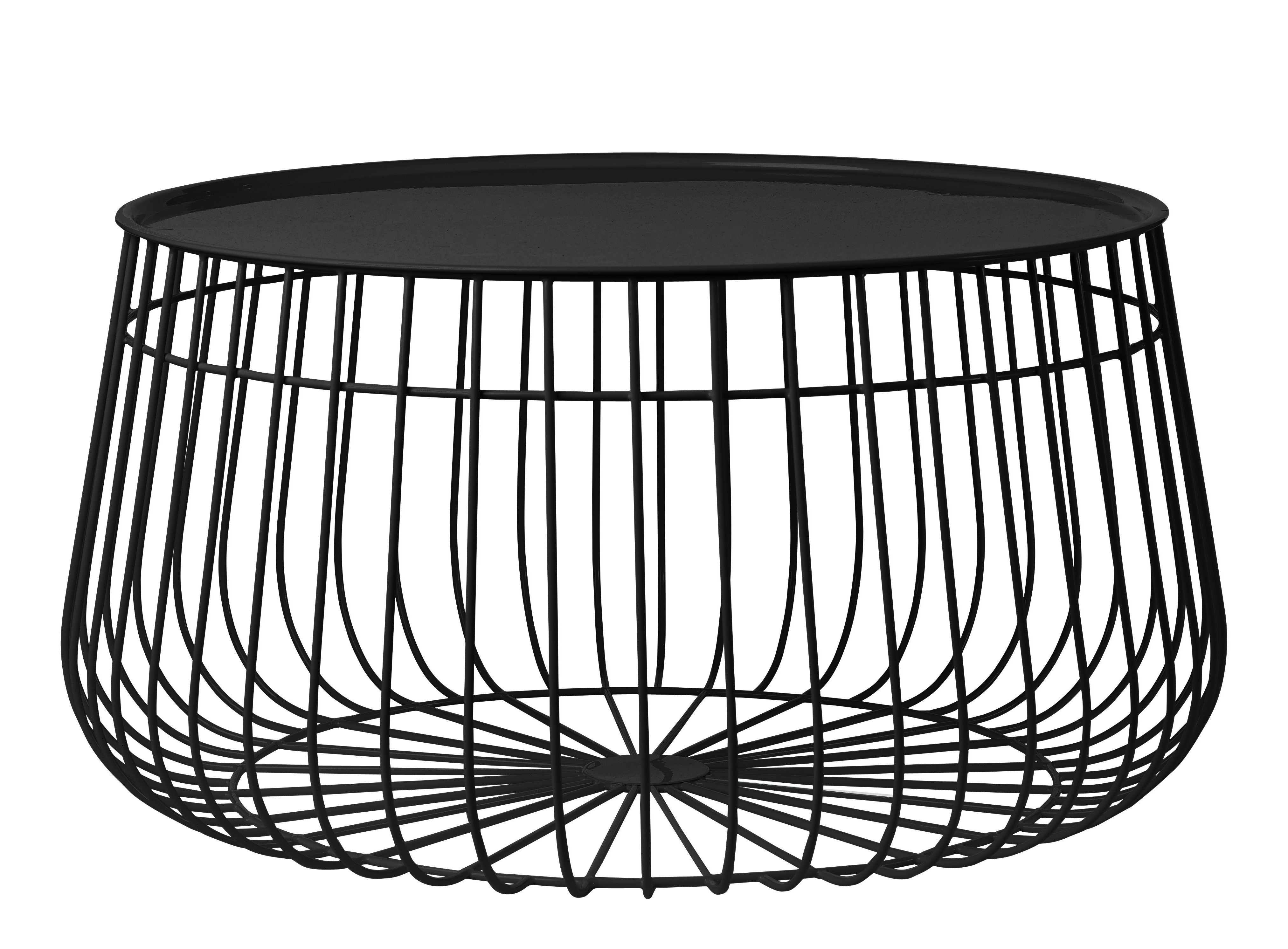 Most Popular Coffee Table Wirepols Potten – Black – H 35 X Ø (View 3 of 20)
