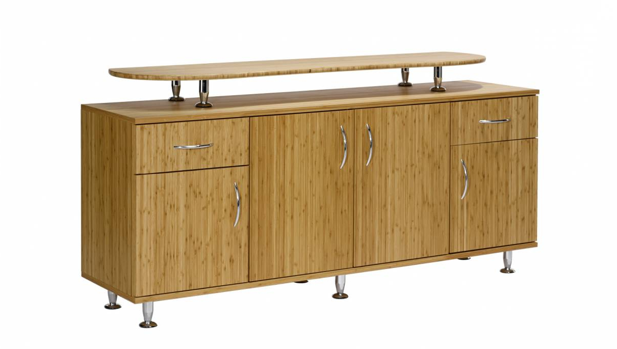 Most Popular Diamond Circle Sideboards In Bamboo Design Sideboard With Doors, 2 Drawers And Add On Top (View 13 of 20)