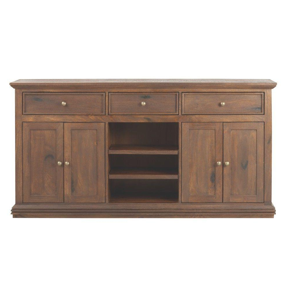 Most Popular Home Decorators Collection Aldridge Antique Walnut Buffet 9415000960 With Regard To Walnut Finish 2 Door/3 Drawer Sideboards (View 11 of 20)