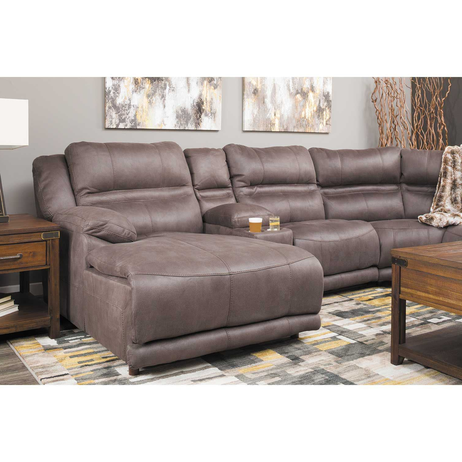 Most Popular Jackson 6 Piece Power Reclining Sectionals Intended For Braxton 6 Piece Power Reclining Sectional With Adjustable Headrest (View 4 of 20)