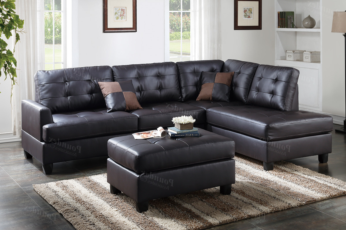 Most Popular Leather Sectional With Ottoman – Tidex Regarding Burton Leather 3 Piece Sectionals With Ottoman (View 8 of 20)