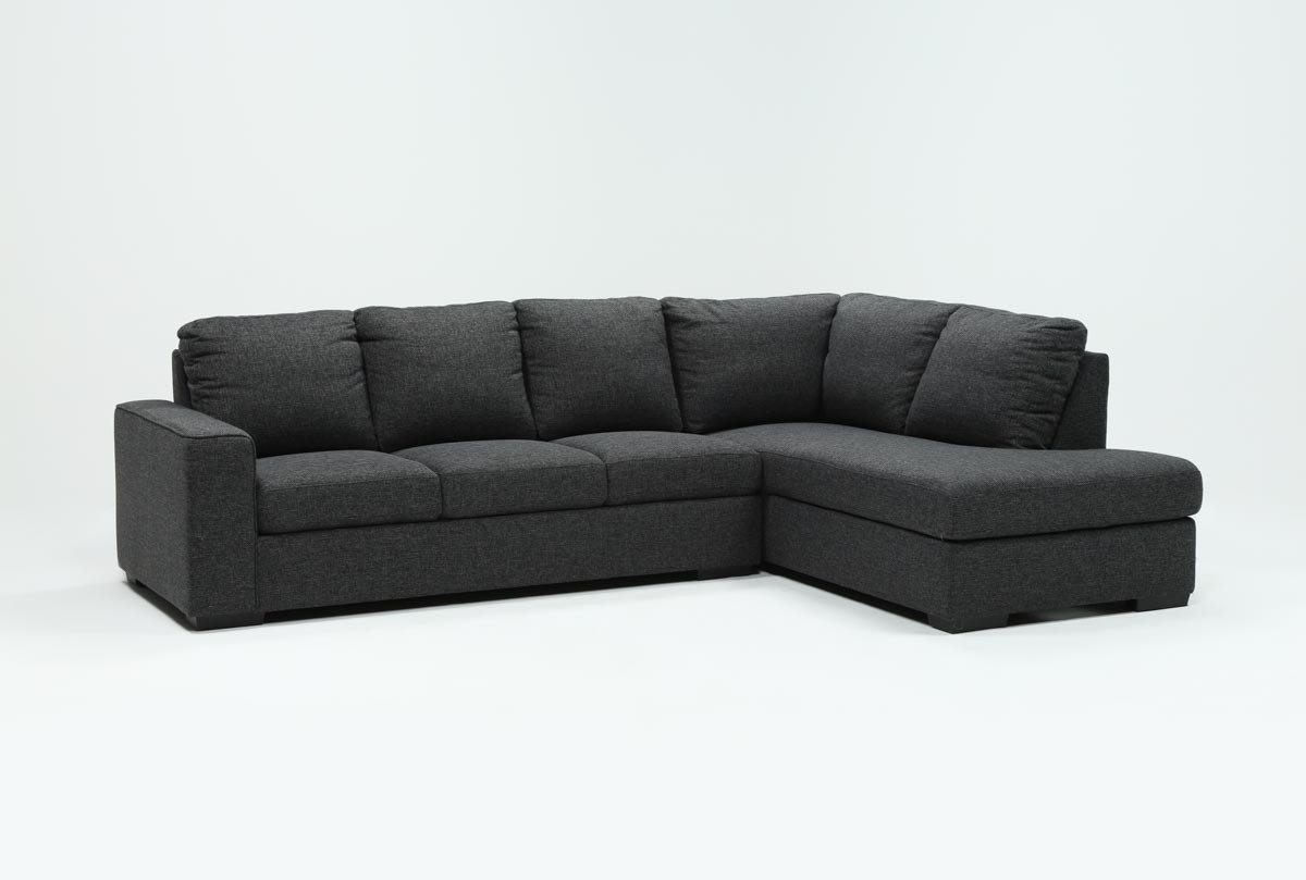 Featured Photo of Lucy Dark Grey 2 Piece Sleeper Sectionals With Laf Chaise