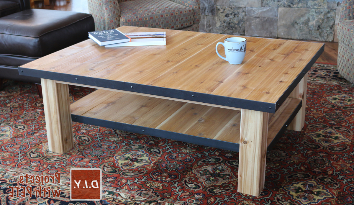 Most Popular Mill Large Coffee Tables Pertaining To How To Make A Wood Coffee Table With Steel Accents (View 14 of 20)