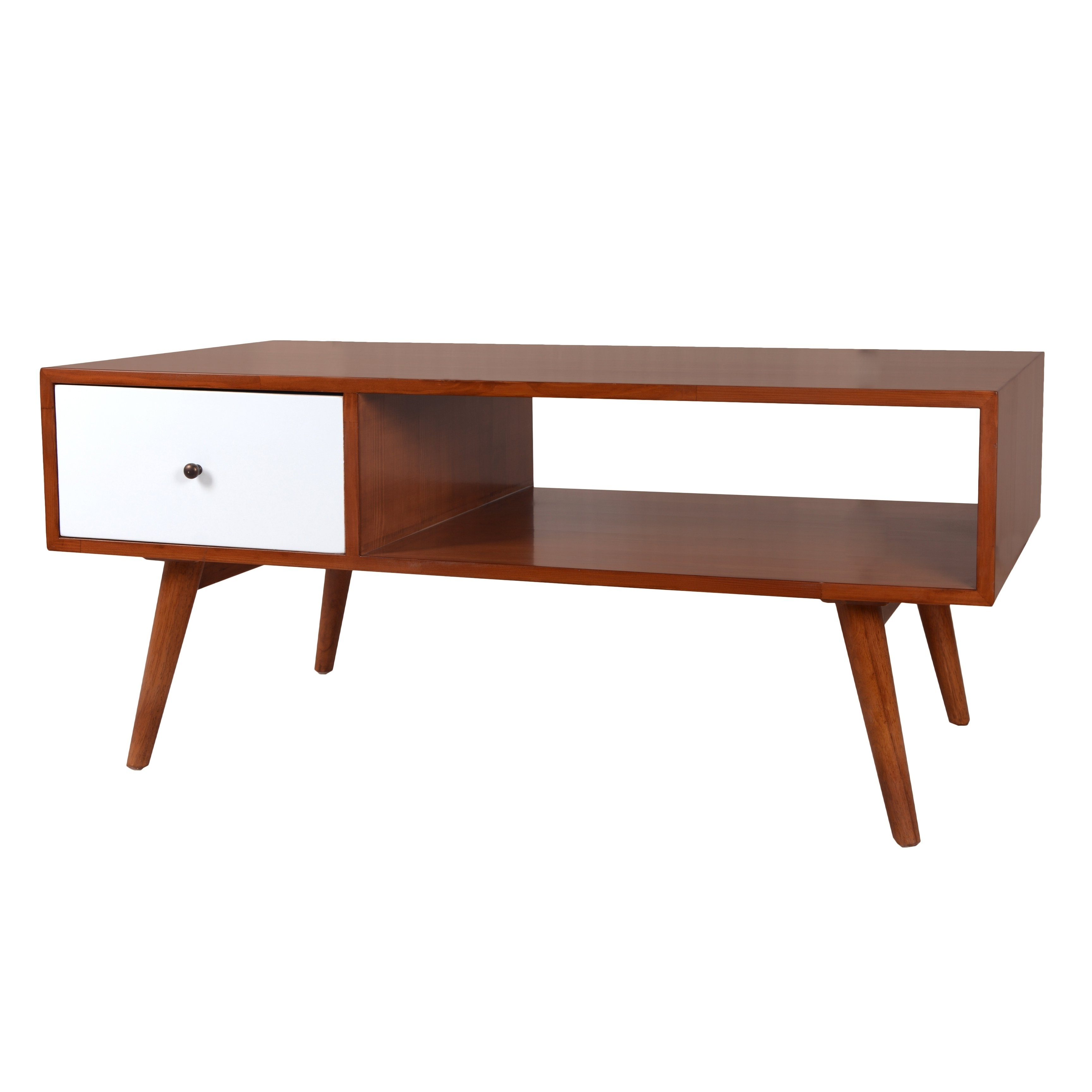 Most Popular Natural 2 Drawer Shutter Coffee Tables Pertaining To Buy Off White Coffee, Console, Sofa & End Tables Online At Overstock (View 7 of 20)