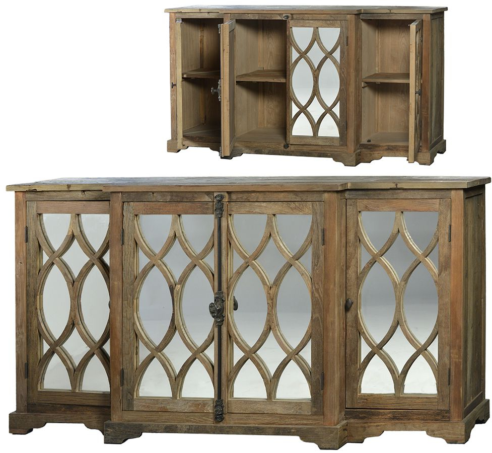 Most Popular Reclaimed Sideboards With Metal Panel With Regard To World Bazaar Outlet – Hudson Sideboard Built From Reclaimed Elm (View 12 of 20)