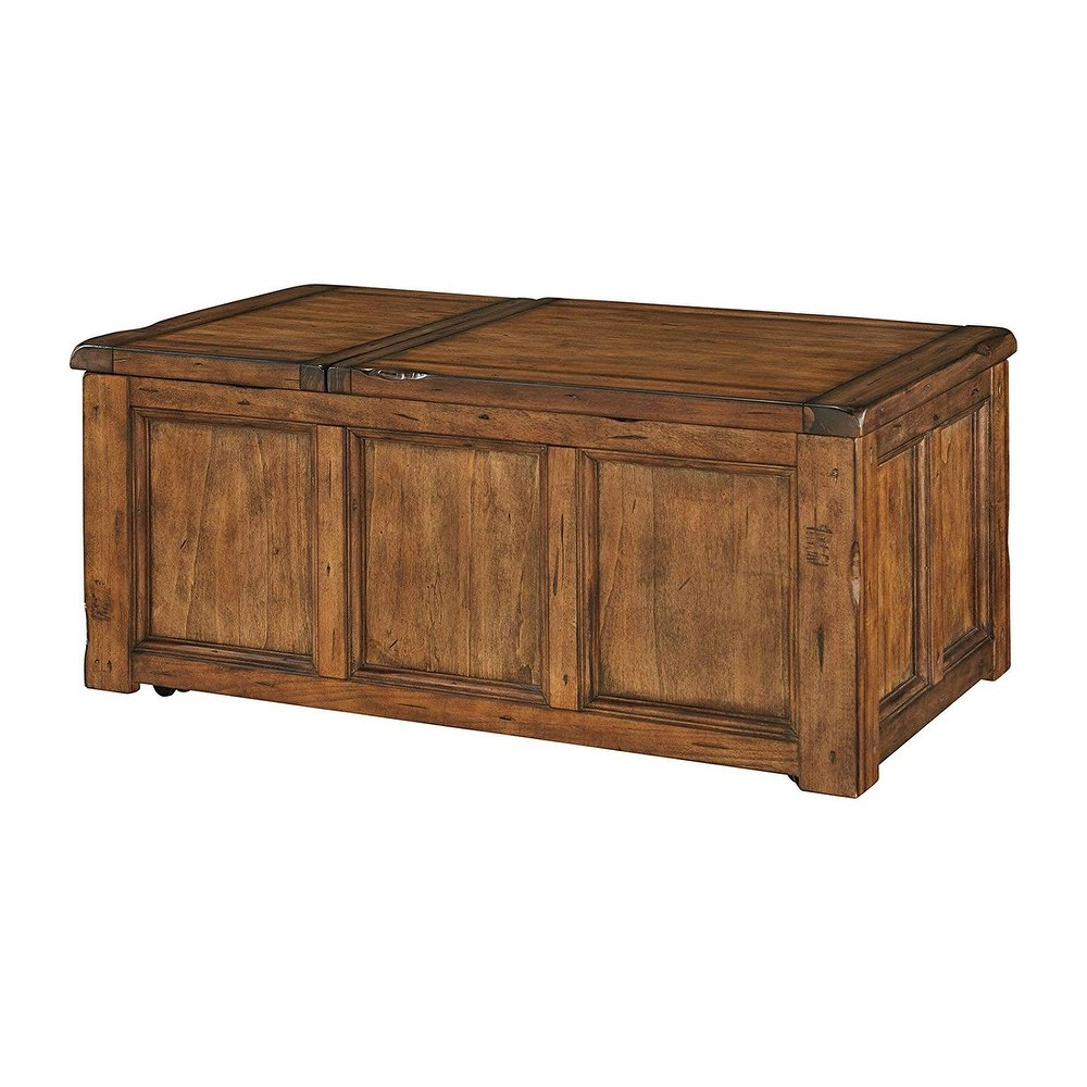 Most Popular Shop Ashley T830 9 Rustic Finish Coffee Table W/ Chiseled Edges Regarding Chiseled Edge Coffee Tables (View 11 of 20)