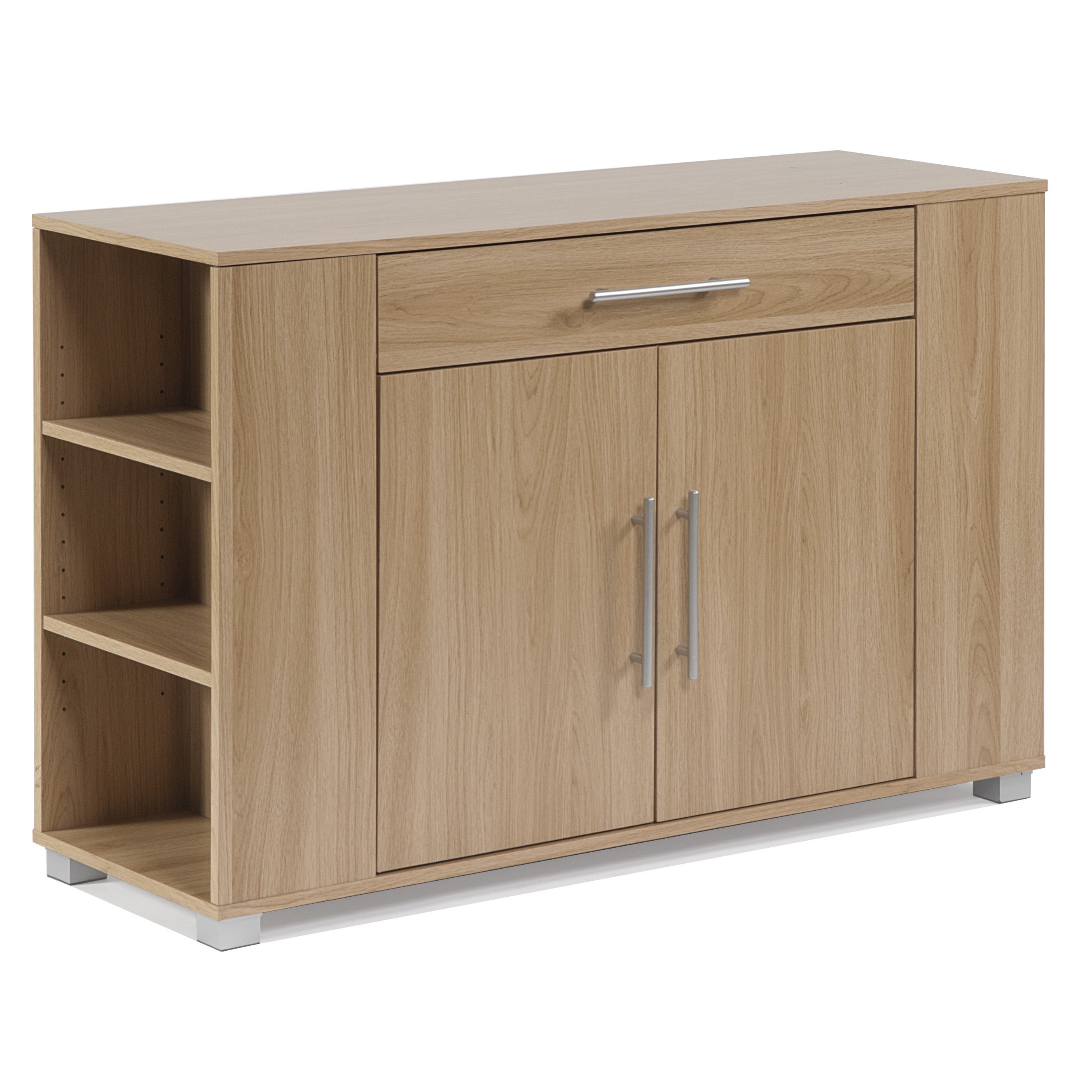 Most Popular Shop Clay Alder Home Otowi 2 Door Sideboard With Drawer And End With Burn Tan Finish 2 Door Sideboards (View 5 of 20)