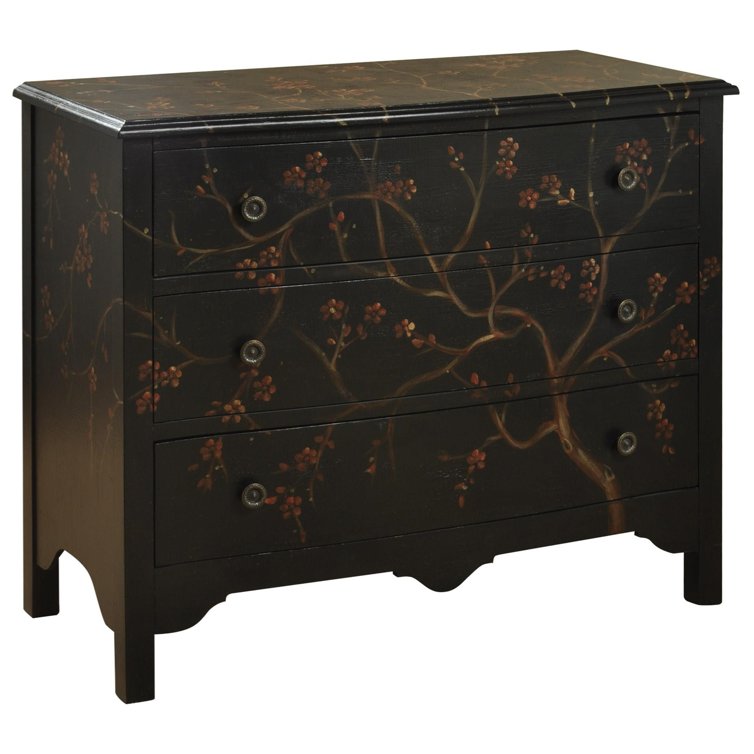 Most Popular Stylecraft Occasional Cabinets Traditional 3 Drawer Chest Pertaining To Starburst 3 Door Sideboards (View 6 of 20)