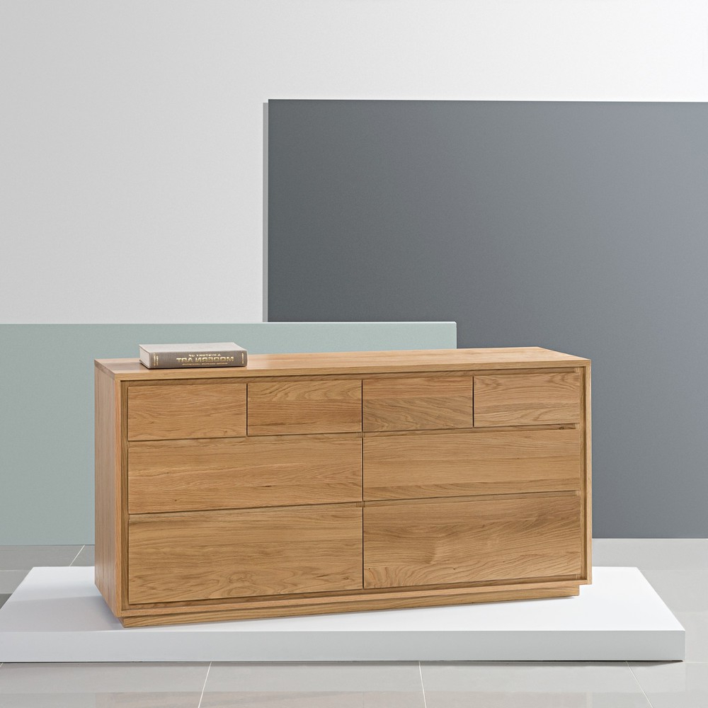Most Popular Tobias 4 Door Sideboards For Tobias 8 Drawer Chest – Solid Oak – 150X45X76Cm – Icondesign (Gallery 1 of 20)