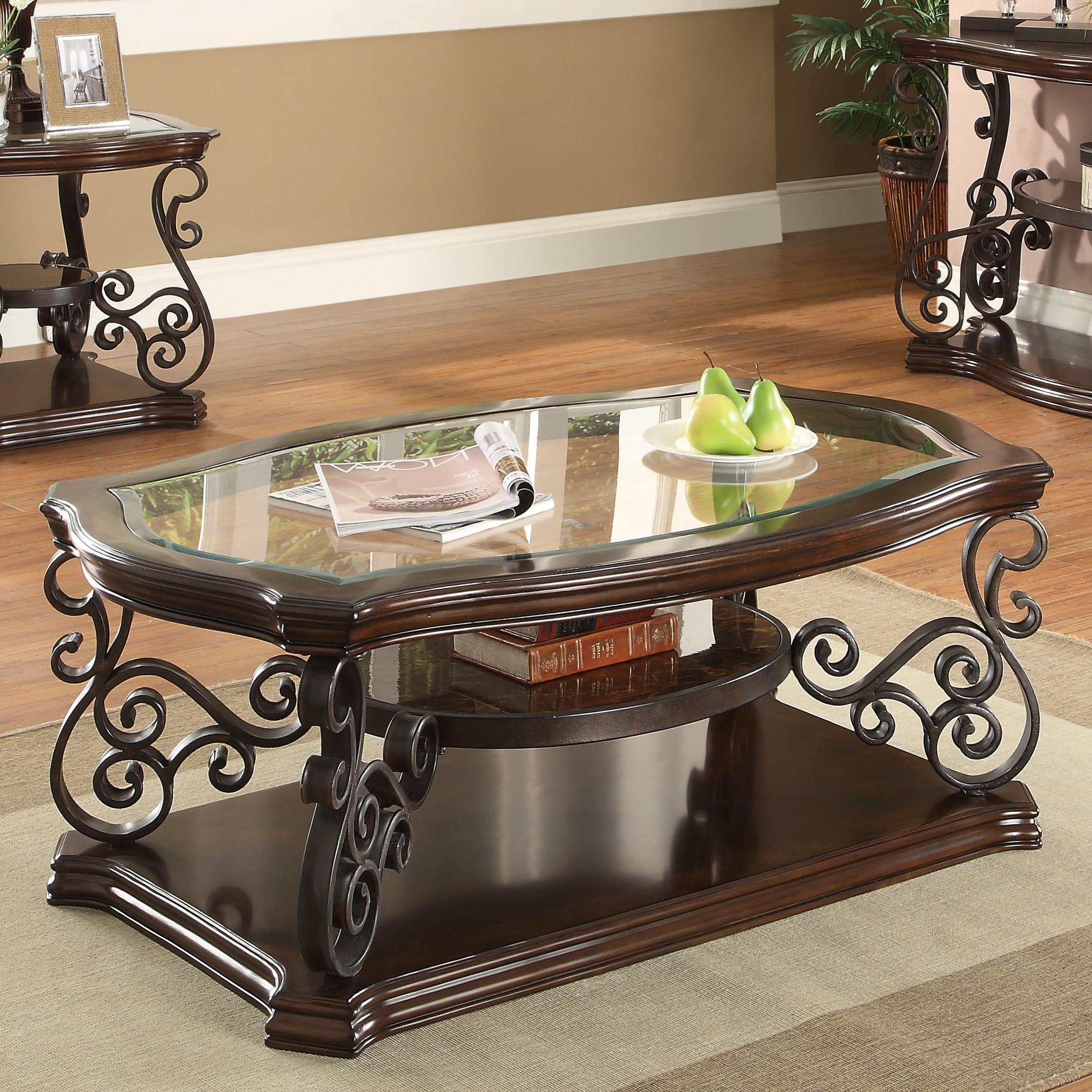 Most Popular Traditional Coffee Tables Inside Coaster Occasional Group 702448 Traditional Coffee Table With (Gallery 1 of 20)