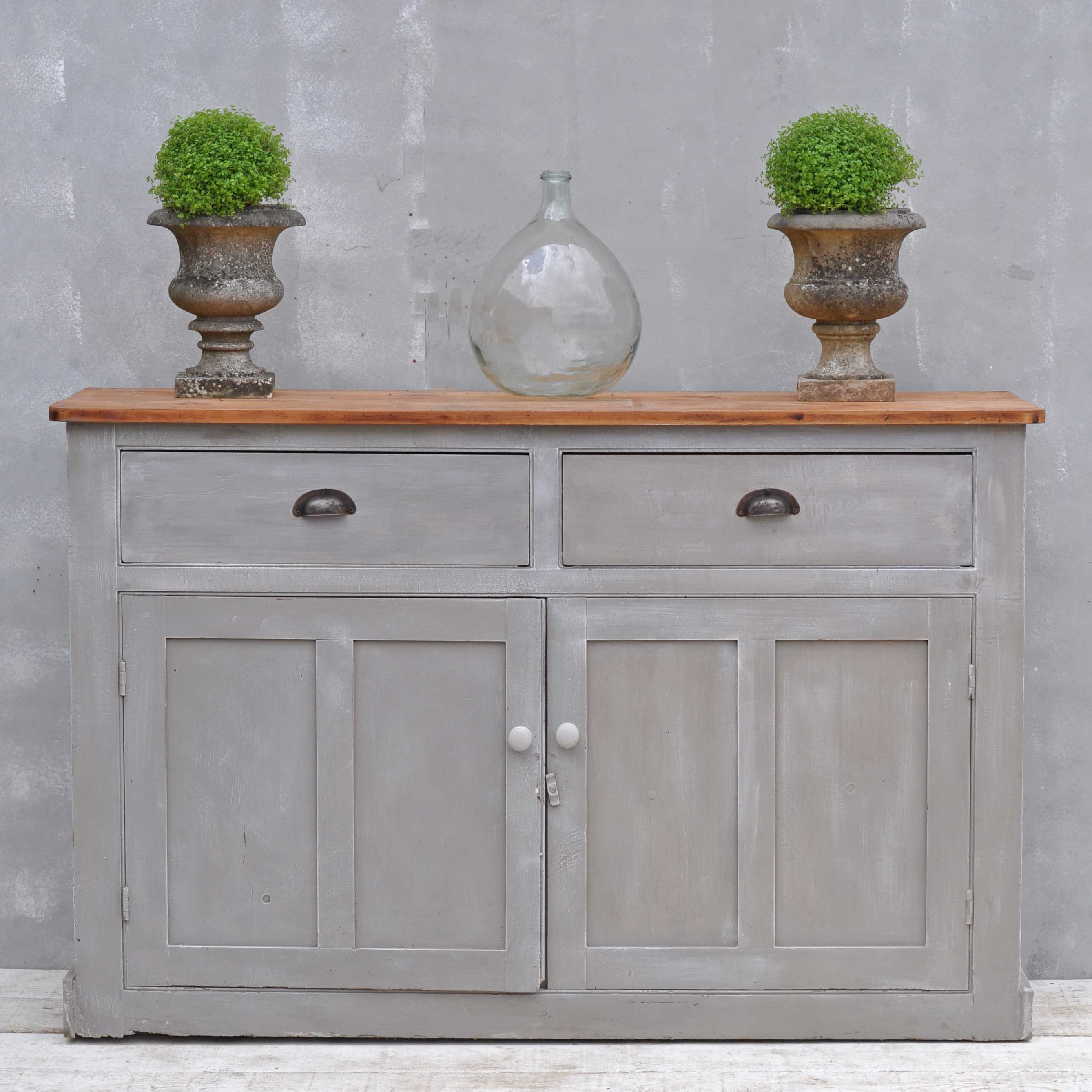 Most Popular Vintage 8 Glass Sideboards Throughout Vintage Sideboard – Hand Painted Victorian Cupboard – Home Barn Vintage (View 6 of 20)