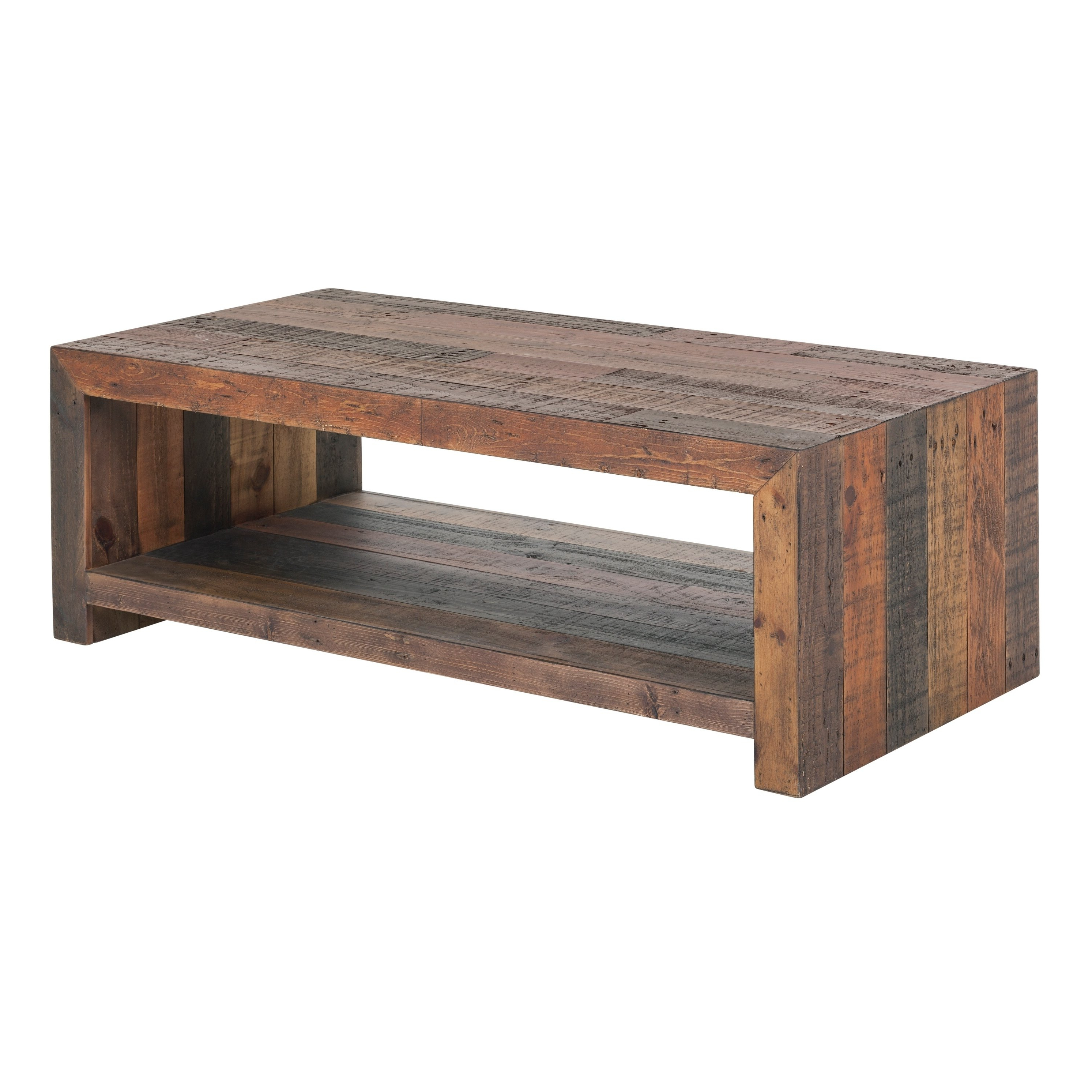 Most Popular Vintage Wood Coffee Tables Inside Shop Aurelle Home Vintage Antique Bright Wood Coffee Table – On Sale (View 10 of 20)