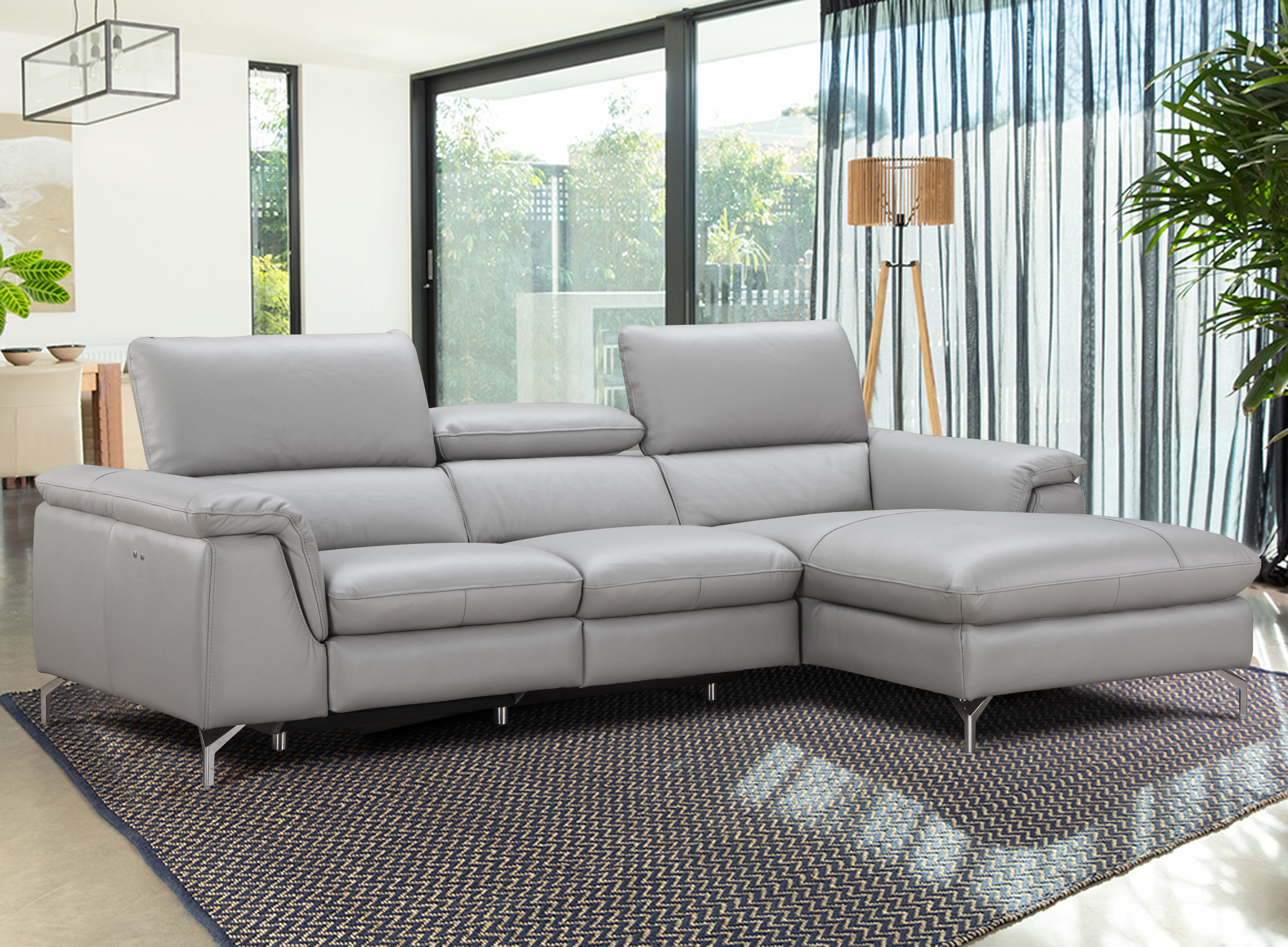 Most Recent Adeline 3 Piece Sectionals For J&m Furniture Serena Leather Reclining Sectional & Reviews (View 15 of 20)
