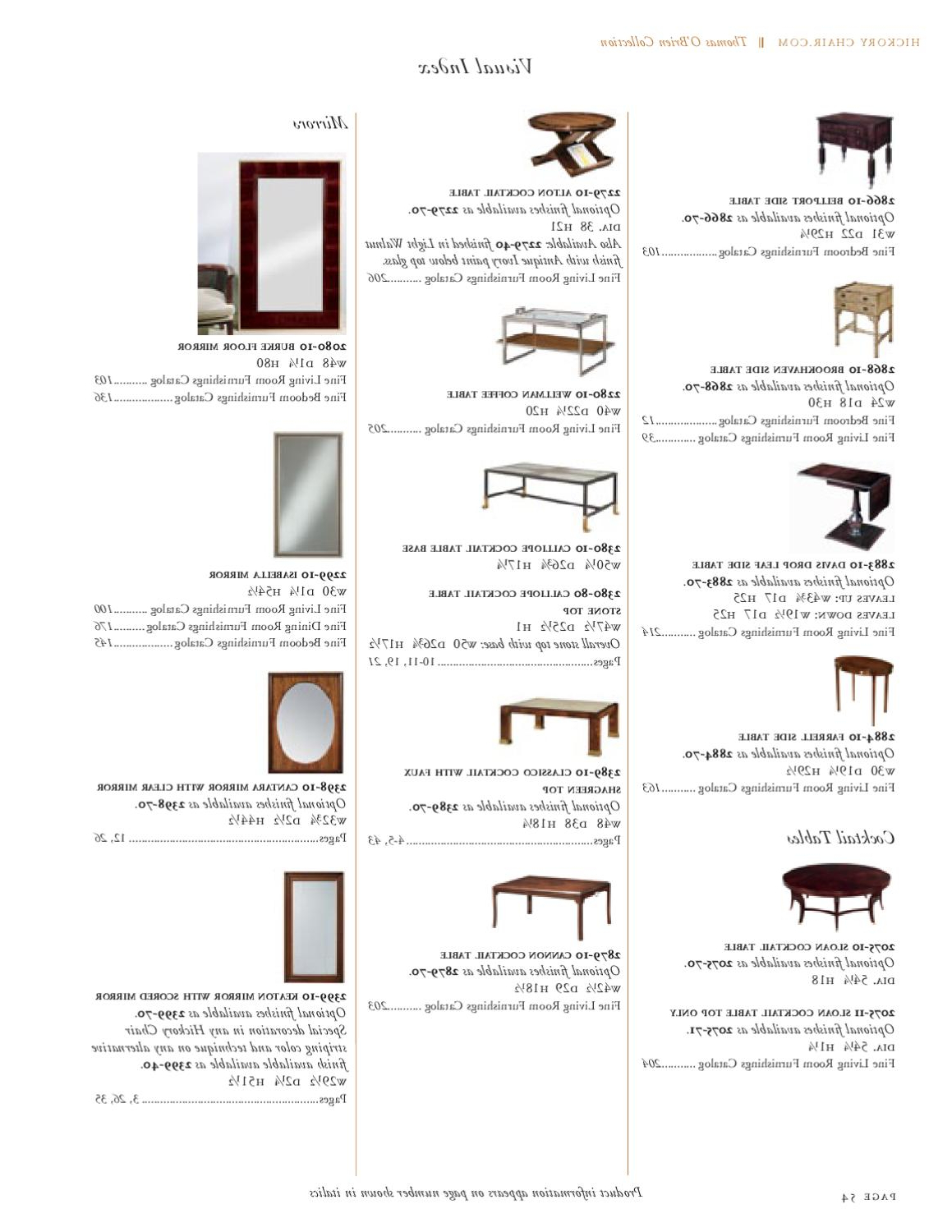 Most Recent Alton Cocktail Tables Intended For Hickory Chair  Thomas O Briencadieux & Company – Issuu (View 13 of 20)