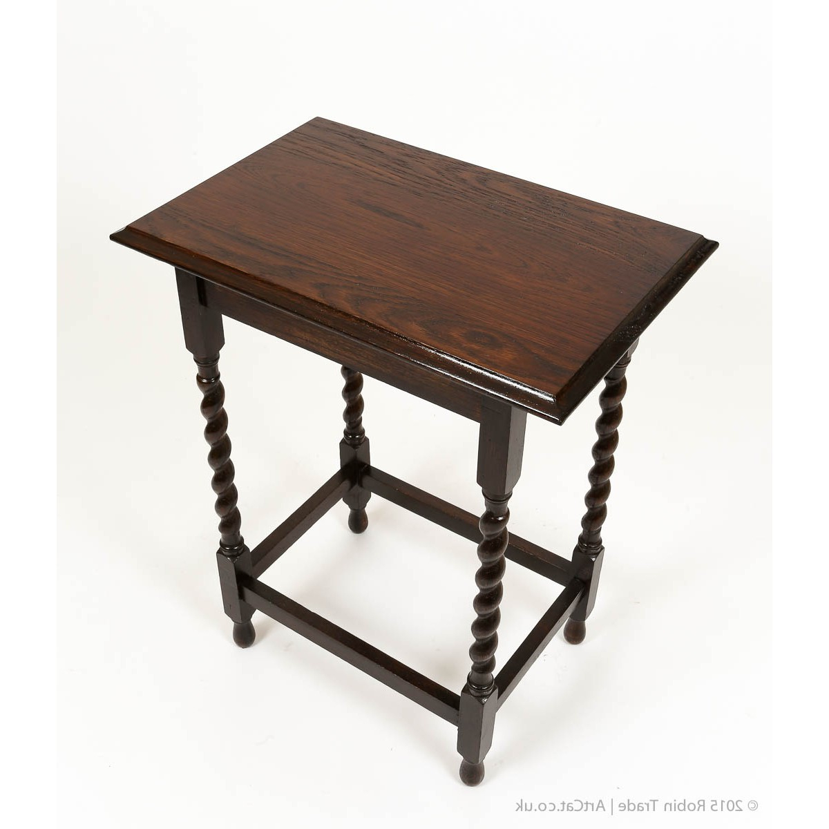 Most Recent Antique Early 20Th Century Small Side Table With Barley Twist Legs Within Barley Twist Coffee Tables (View 14 of 20)