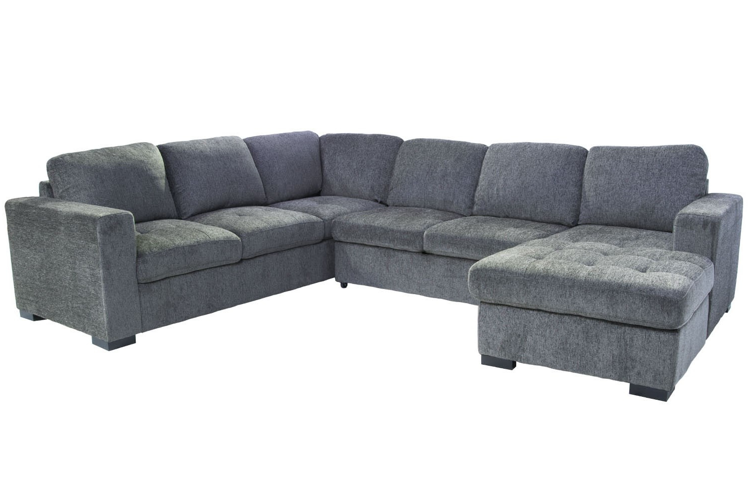Most Recent Aquarius Light Grey 2 Piece Sectionals With Laf Chaise For Claire 3 Piece Right Facing Chaise Sectional In Gray (Gallery 11 of 20)