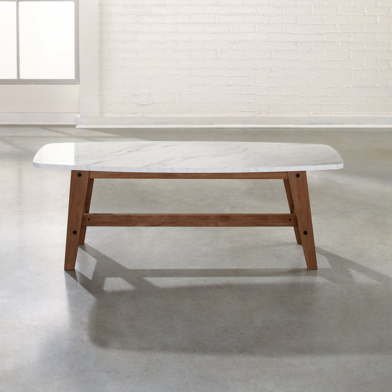 Most Recent Choose The Best White Marble Coffee Table — The Home Redesign Throughout Mid Century Modern Marble Coffee Tables (View 16 of 20)