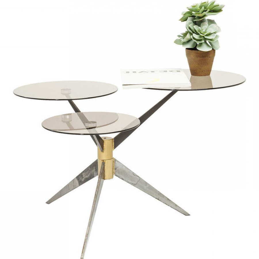 Most Recent Coffee Table Bonsai Tre Gunmetal With Regard To Gunmetal Coffee Tables (View 15 of 20)