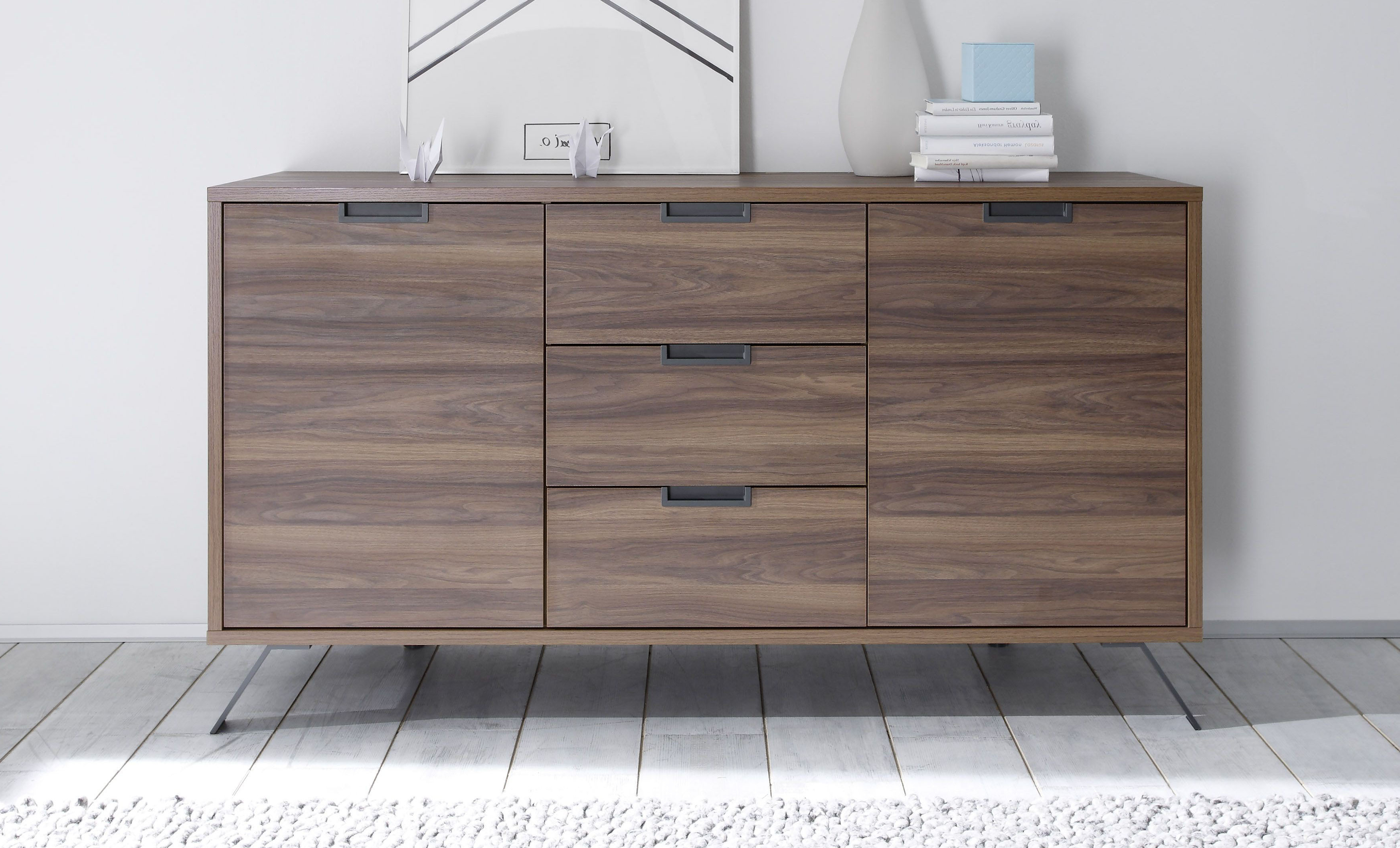 Most Recent Contemporary Dining Buffet In Walnut Oak Finish Seattle Washington Throughout Walnut Finish Contempo Sideboards (View 10 of 20)