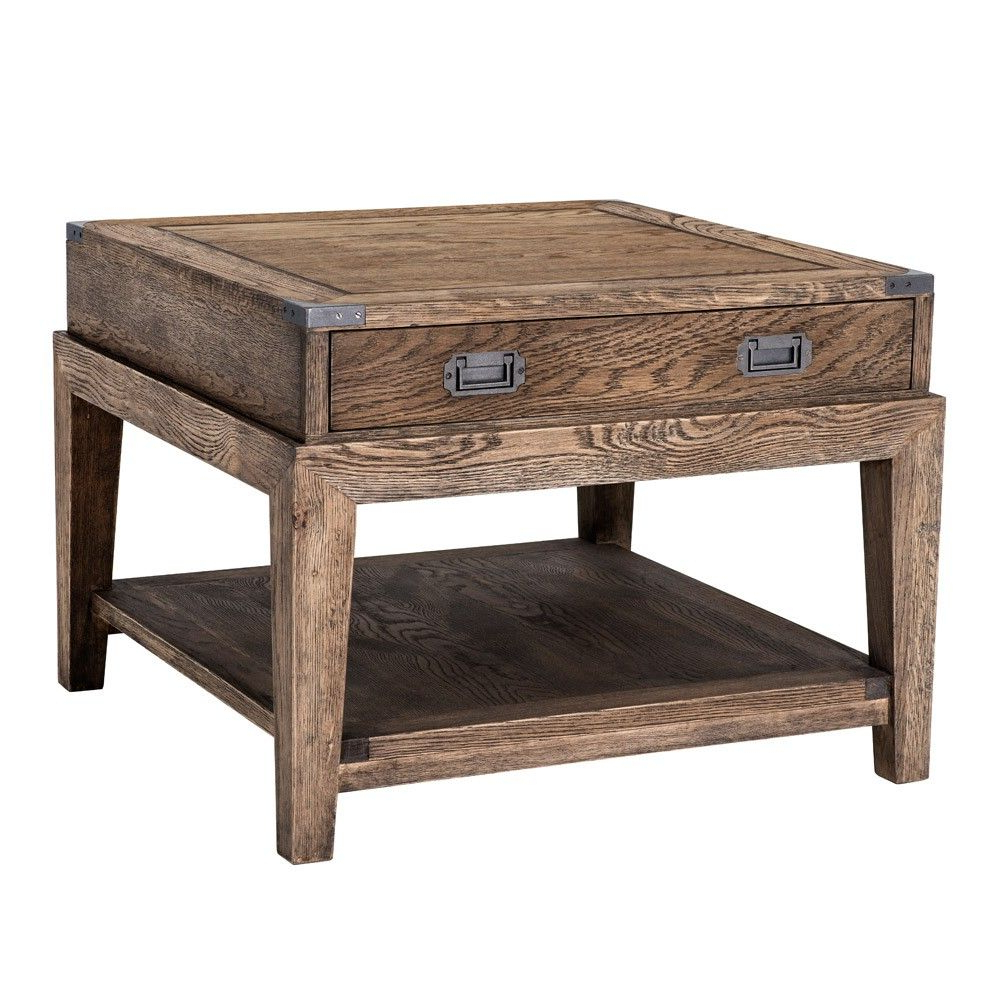 Most Recent Eichholtz Military Side Table – Smoked Oak (View 9 of 20)