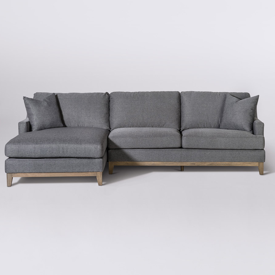 Most Recent Grant Sectional – Right Facing Chaise (Raf) – Alder & Tweed Furniture With Alder 4 Piece Sectionals (View 10 of 20)