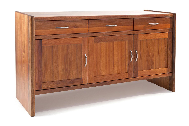 Most Recent Industrial 3 Drawer 3 Door Sideboards For Denver 3 Door Sideboard – Tessa Furniture (Gallery 12 of 20)