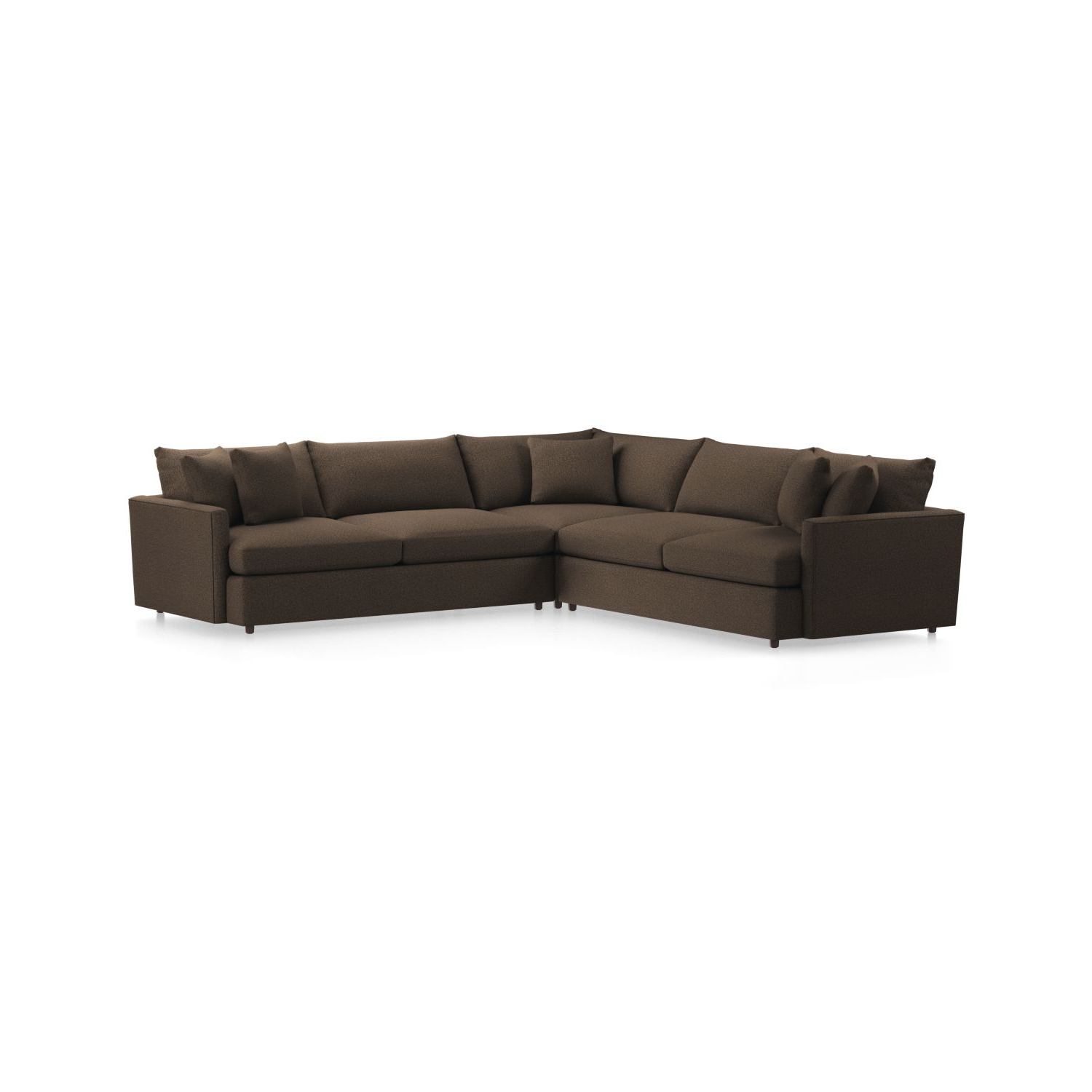Most Recent Lounge Ii 3 Piece Sectional Sofa + Reviews (View 9 of 20)