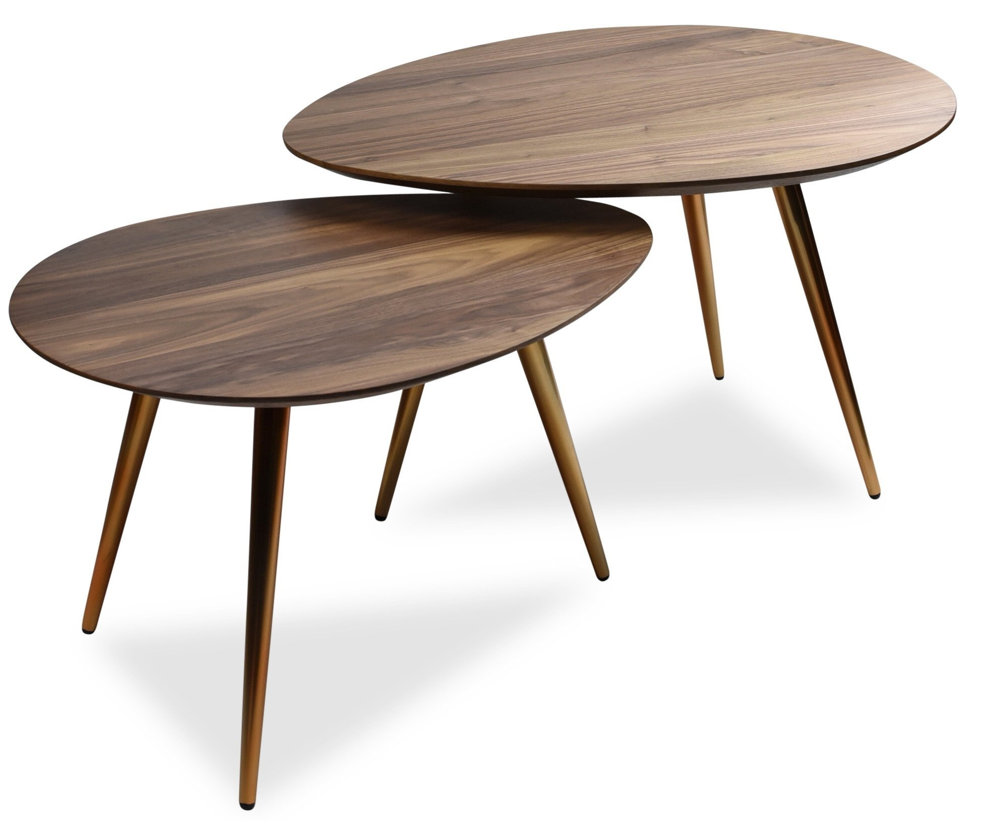 Most Recent Maddox Mid Century Modern Nesting Coffee Table Set For Set Of Nesting Coffee Tables (View 10 of 20)